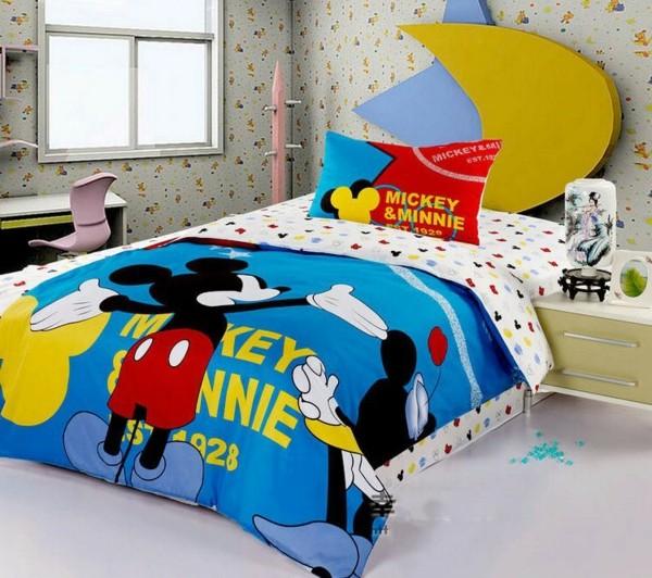 wunderbare--Bettwäsche-Mickey-Mouse-Kinderzimmer