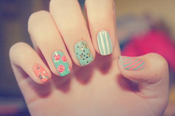 wunderbare--Fingernägel-Design-Idee-coole-Farben