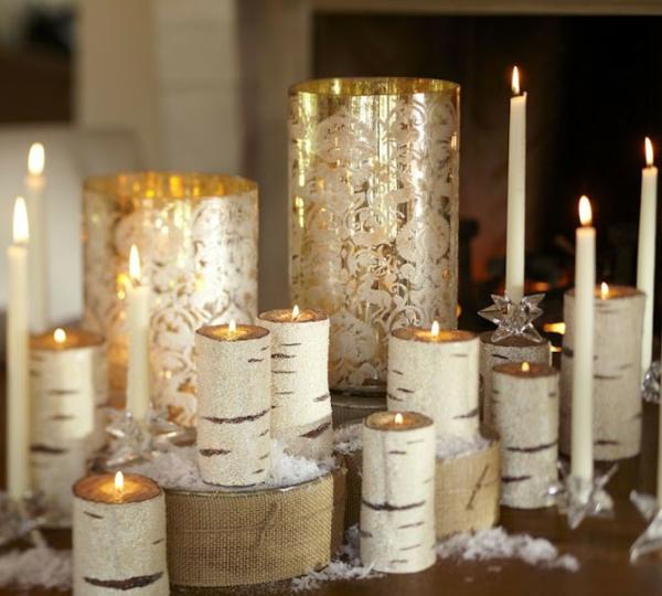 wunderbare-Tischdeko-Dekorationen-aus-Birkenstamm-Kerzen