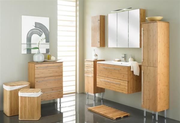 Badezimmermöbel Bambus waschbeckenunterschrank aus bambus! - archzine