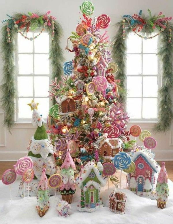 Wundersch ne ideen f r weihnachtsbaum deko - Arboles de navidad rosa ...