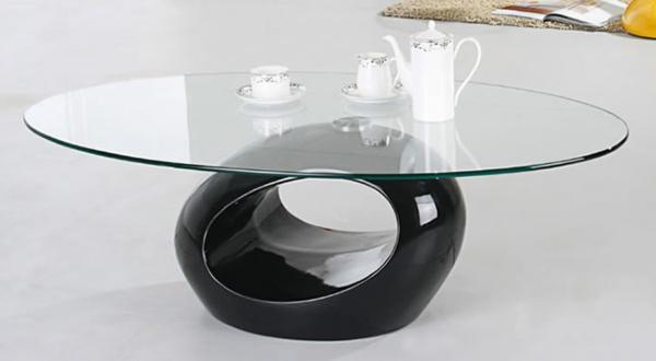 Effektvolle couchtische aus glas for Runder couchtisch glas