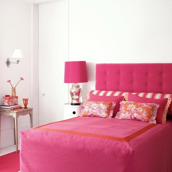 Rosa Schlafzimmer ist eine super Idee!