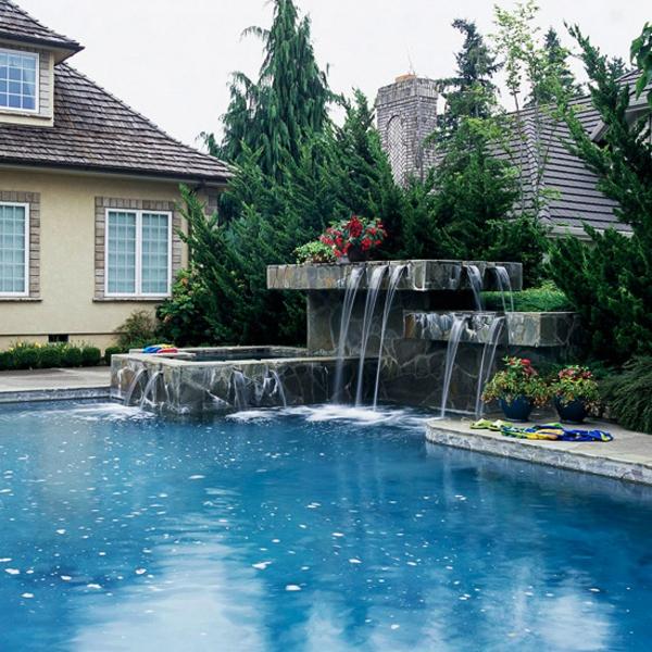 Schwimmingpool Für Den Garten - 35 Prima Designs! - Archzine.net Wasserfalle Fur Den Garten