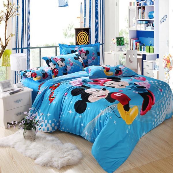 wunderschöne-Mickey-Minnie Maus-Bettwäsche