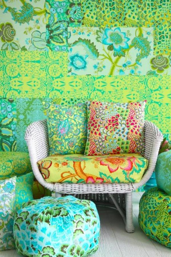 wunderschöne-Wandgestaltung-in-grüner-Farbe