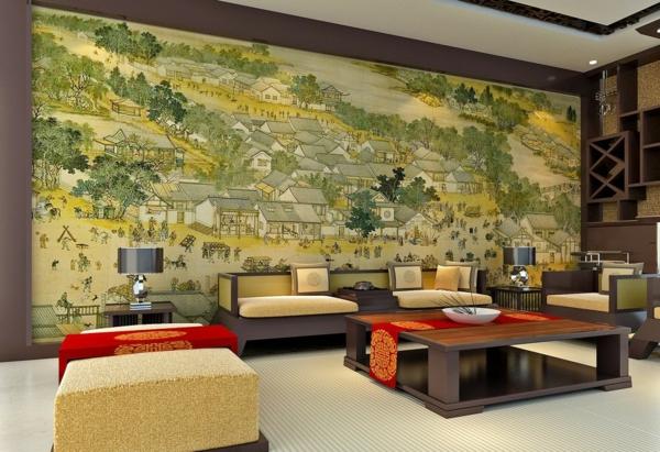 30 fotos von origineller wohnzimmer wandgestaltung - Grose wohnzimmer wandgestaltung ...
