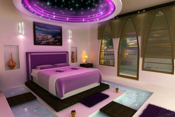 wunderschöne-lila-schlafzimmerlampen