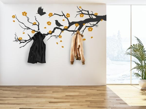 Wandtattoo garderobe eine originelle idee for Garderobe decke