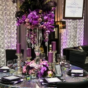 Tischdeko zur Hochzeit in lila Farbe - 34 Bilder!