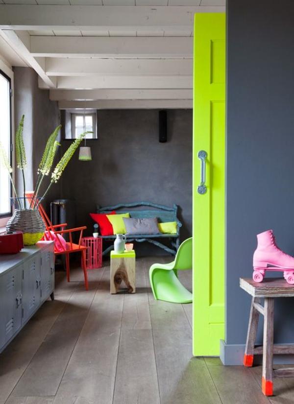 Akzent-im-Zimmer-neon-Tür