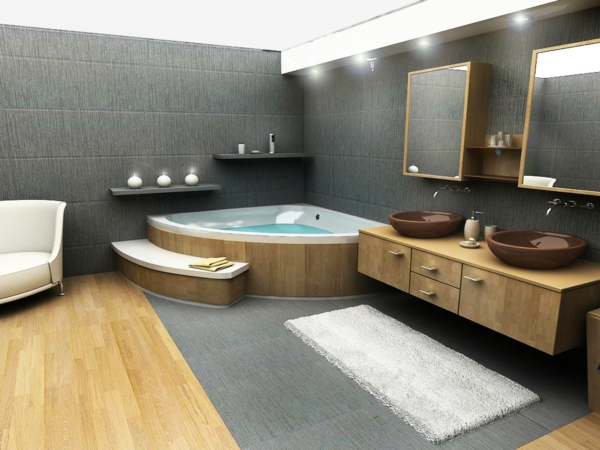 130 fantastische whirlpools f r innen for Design badezimmer luxus