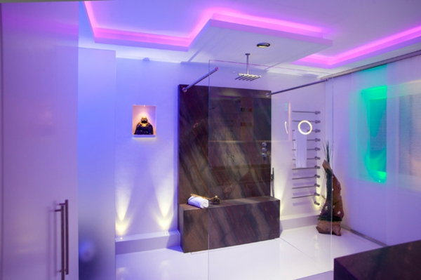 Badbeleuchtung f r decke 100 inspirierende fotos - Rosa badezimmer ...