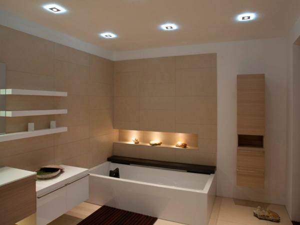 Badezimmer-Privathaus -Badezimmer-Einrichtungsideen-Beleuchtung-für ...