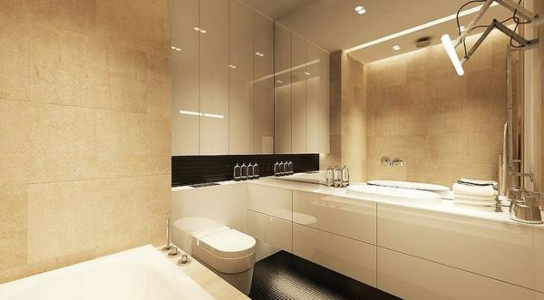 Moderne wandfarbe eierschalenfarben f r jeden raum 100 ideen - Moderne fliesen fur badezimmer ...