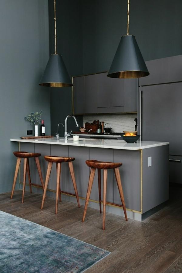 Barstühle-Holzhocker-effektvolles-Design Hocker aus Holz