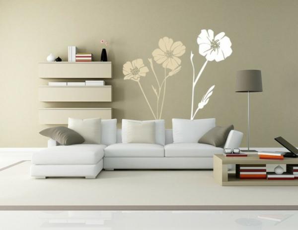 Blumen-kreative-Wandgestaltung-modernes-Interior-Design