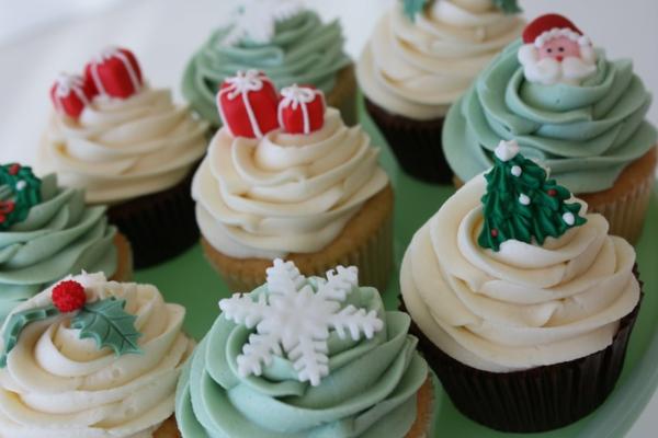 Cupcakes-für-Weihnachten-verzieren-Ideen-Cupcakes-für-Weihnachten-zu-verzieren