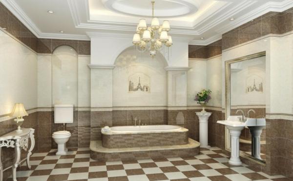 Badbeleuchtung f r decke 100 inspirierende fotos - Kronleuchter fur badezimmer ...