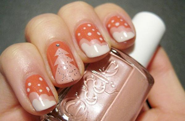 Deko-Ideen-für-Ihre-Nägel-schön-dekorierte-Nägel-für- Weihnachten