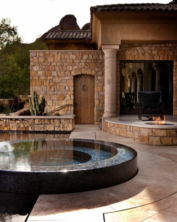 Den-Garten-mit-einem-tollen-runden--Whirlpool-gestalten Whirlpool im Garten
