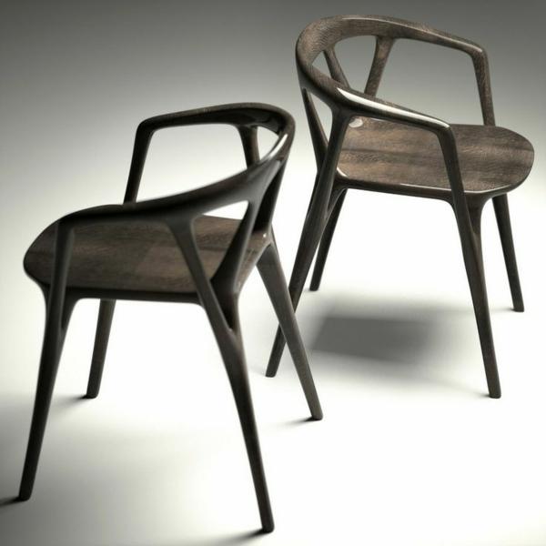 Designstühle-in-Schwarz-für-eine-schicke-Wohnung
