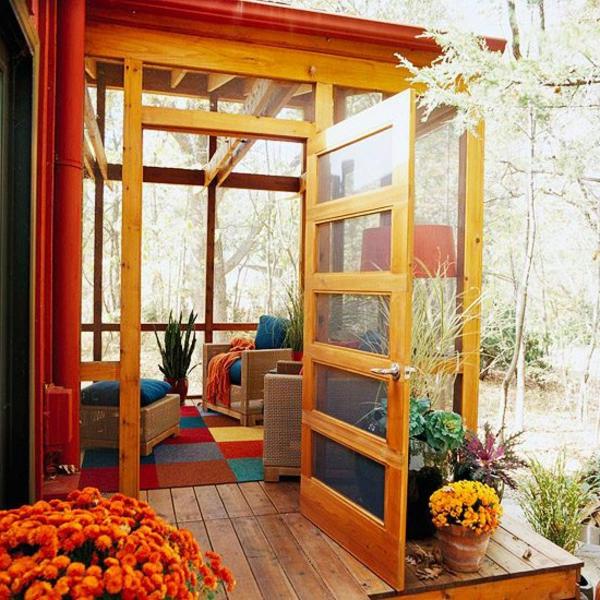 Elegant Einrichtungsideen Wintergarten Klein Herbst Farben Verglast Wintergarten  Gestalten