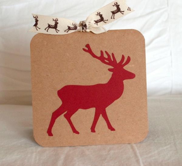 Fantastische--Ideen-für-Gestaltung-von- Weihnachtskarten-Hirsch