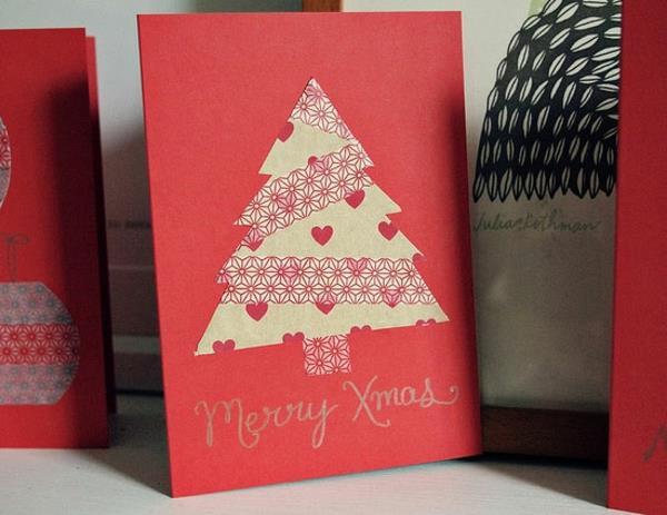 Fantastische--Ideen-für-Gestaltung-von- Weihnachtskarten-mit-Tannenbaum