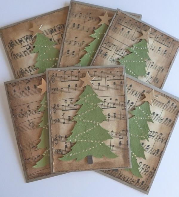 Fantastische--Ideen-für-Gestaltung-von- Weihnachtskarten-mit-Weihnachtsbäumen