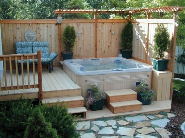 Whirlpool im garten 100 fantastische modelle - Whirlpool outdoor ...