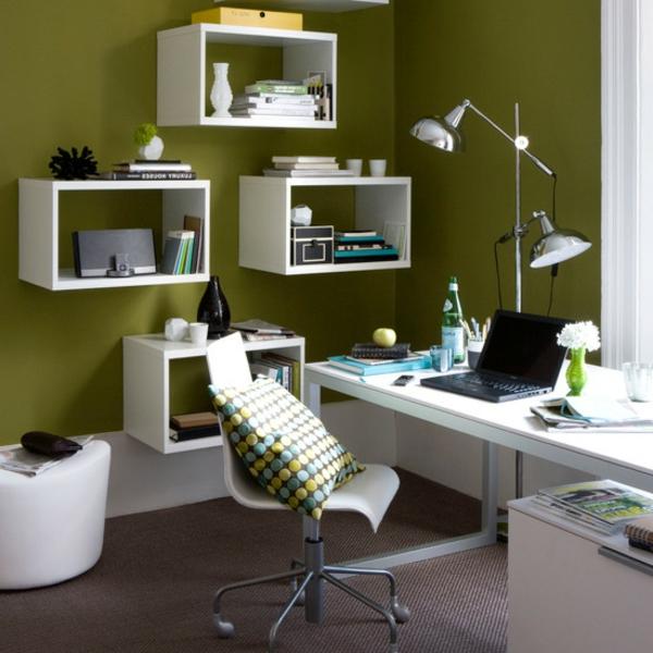 Heimbüro Farbideen Interior Design Olivgrün