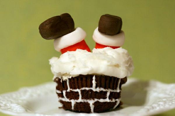 Idee-für-Cupcake-Verzierung-super-leckere-Cupcakes-für-Weihnachten