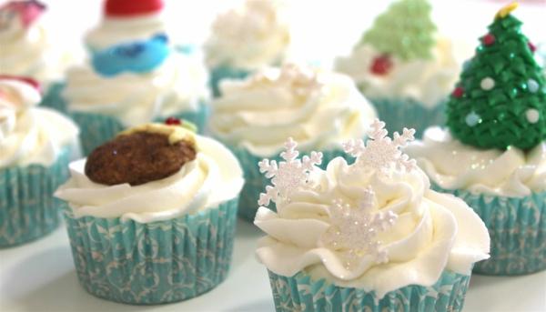 Ideen-Cupcakes-für-Weihnachten-zu-verzieren
