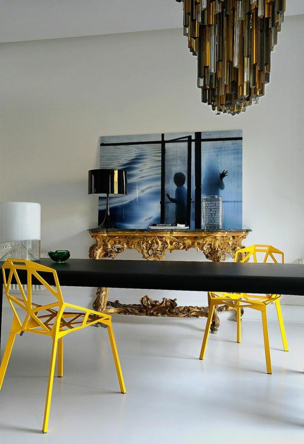 Interior-Design-Idee-Esszimmerstühle-Design-in-Gelb-Idee