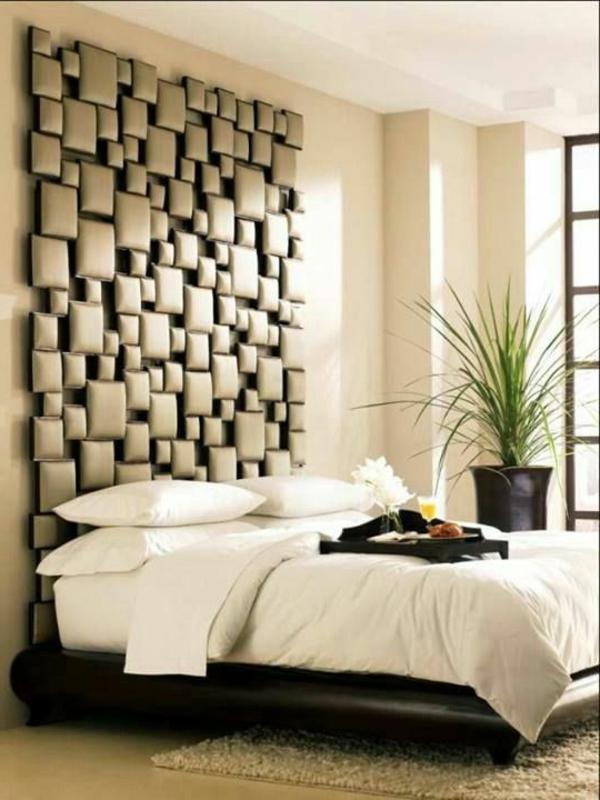 Kreativ Wandgestaltung Schlafzimmer ~ Beispiele für eine tolle wandgestaltung archzine