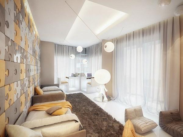 Interior-Design-Idee-kreative-Wandgestaltung-Puzzle