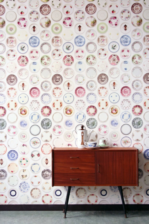 Interior-Design-Idee-kreative-Wandgestaltung-Tapete