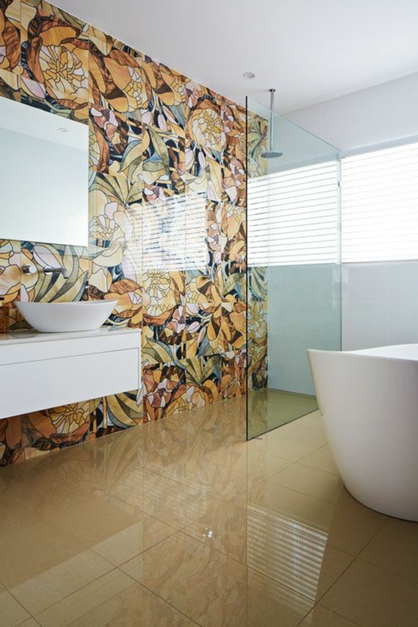 Interior Design Idee Kreative Wandgestaltung Im Badezimmer