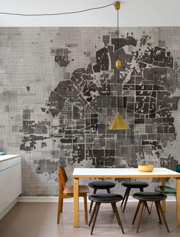 Interior-Design-Idee-kreative-Wandgestaltung-in-der-Küche-tolle Wandgestaltung