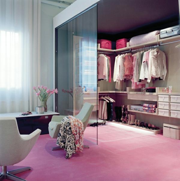 Begehbarer kleiderschrank rosa  Luxus begehbarer Kleiderschrank - 120 Modelle! - Archzine.net