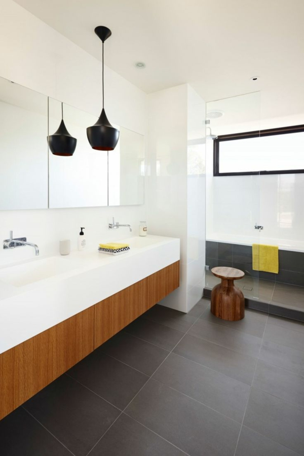modernes badezimmer ideen zur inspiration 140 fotos. Black Bedroom Furniture Sets. Home Design Ideas