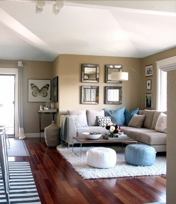 Interior Design Schnes Wohnzimmer Holzboden