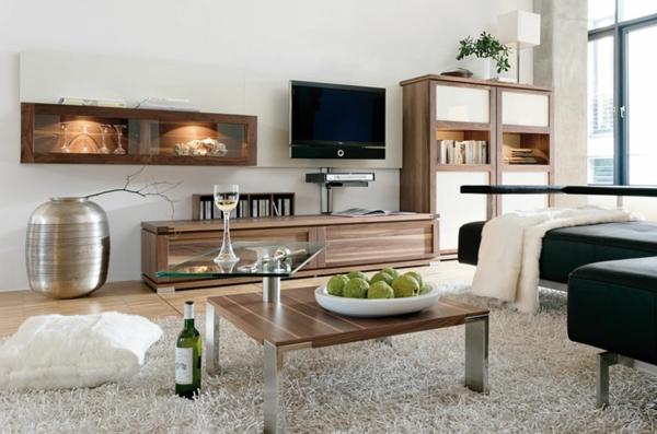 Interior-Design-schönes-Wohnzimmer-mit-einem-Teppich-elegante Wohnzimmer