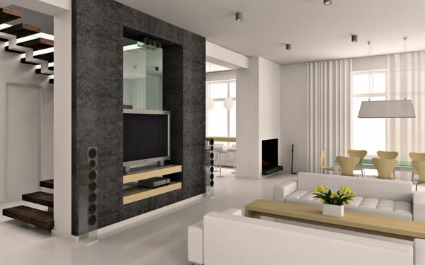 100 fantastische ideen f r elegante wohnzimmer - Wanddesign wohnzimmer ...