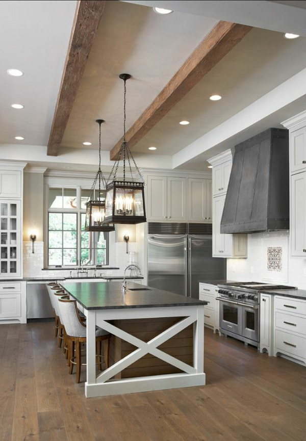 Küche-mit-einem-modernen-Design-tolle-Decke