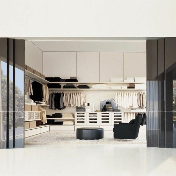 Luxus Kleiderschrank Begehbar Im Schlafzimmer Luxus Begehbarer  Kleiderschrank