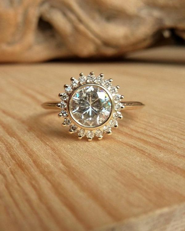Luxus-Ring-wunderschöner-Verlobungsring