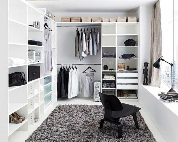 Luxus- begehbare-Kleiderschränke-in-Weiß-Luxus begehbarer Kleiderschrank