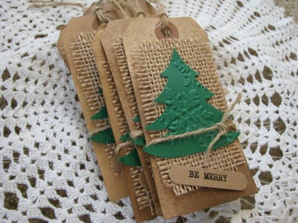 Originelle-Ideen-für-Gestaltung-von- Weihnachtskarten-handgemacht